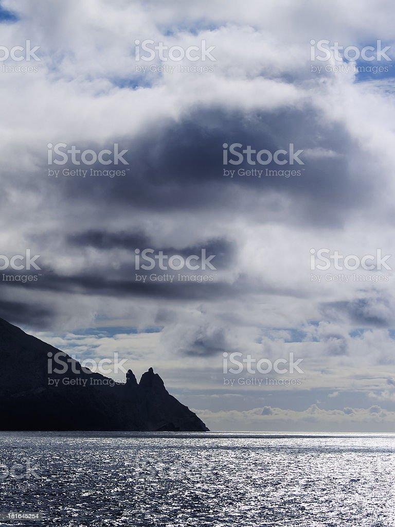 Coast of  Gomera royalty-free stock photo