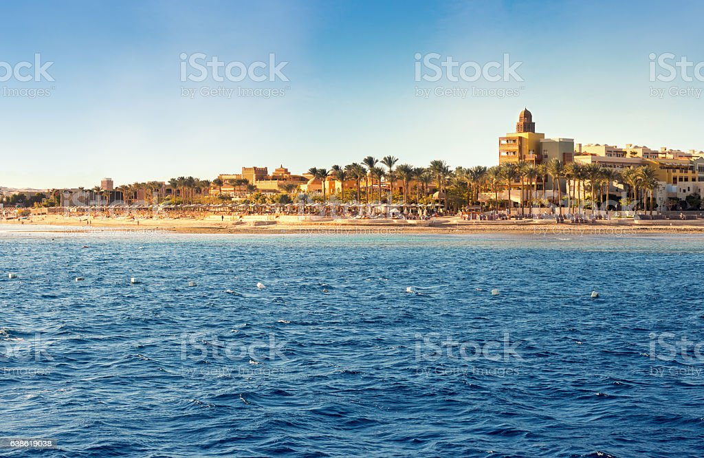 Coast of Hurghada on a sunny day stock photo