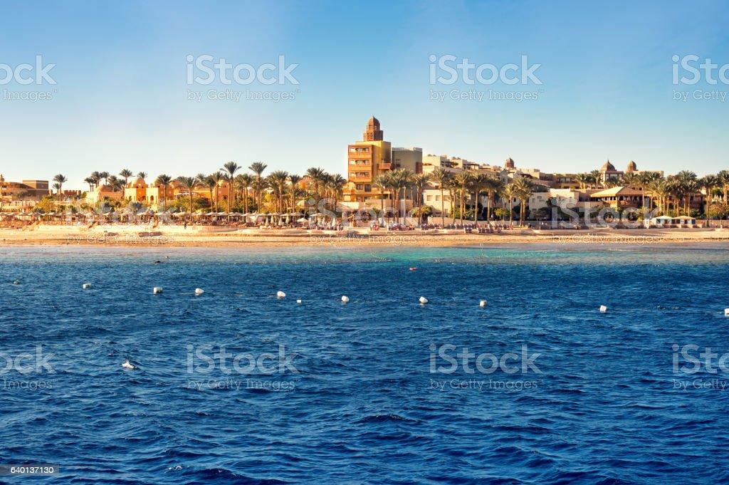 Coast of Hurghada on a sunny day stock photo