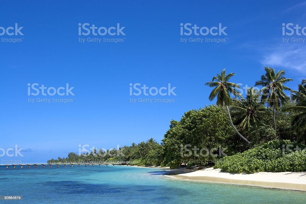 Coast of Indian ocean royalty-free stock photo