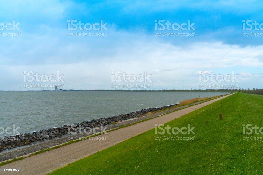 Coast of Lelystad stock photo