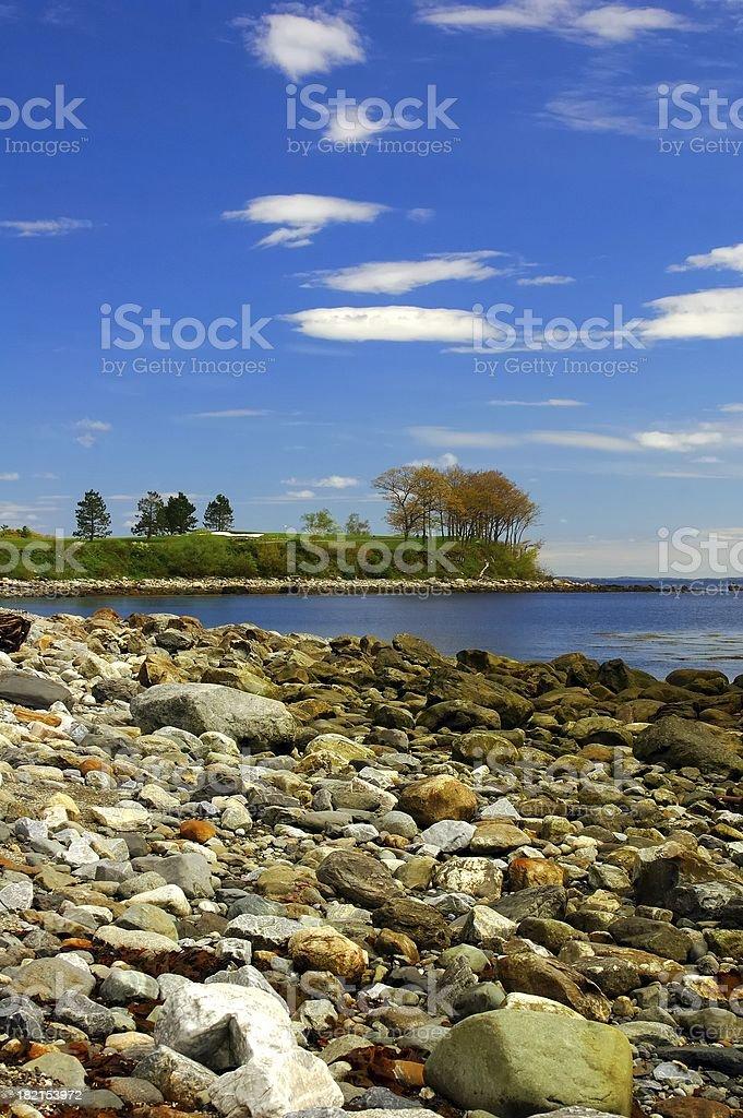 Coast of Maine royalty-free stock photo