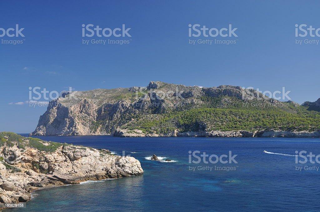 Coast of Majorca, Spain royalty-free stock photo