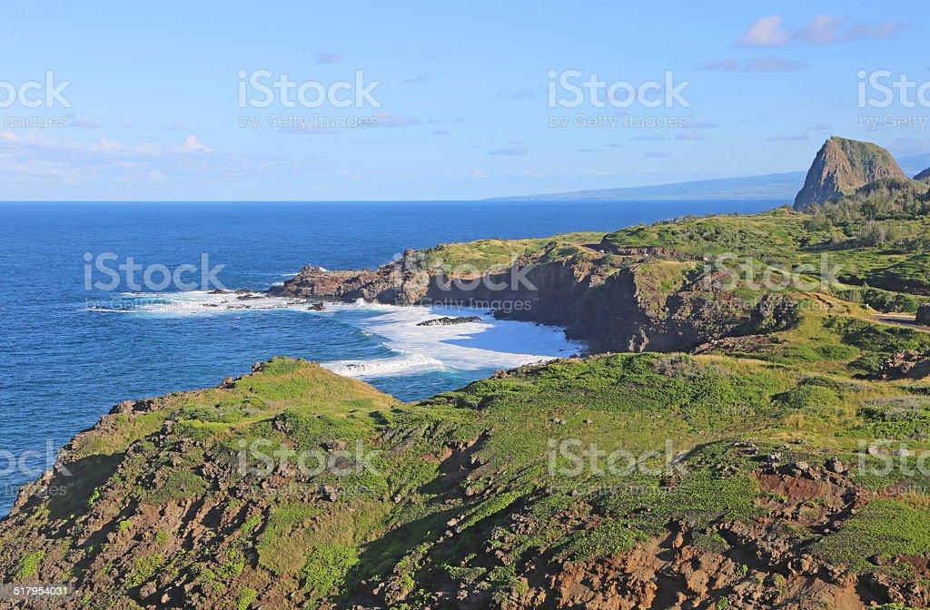 Coast of Maui with Kahakuloa Head stock photo