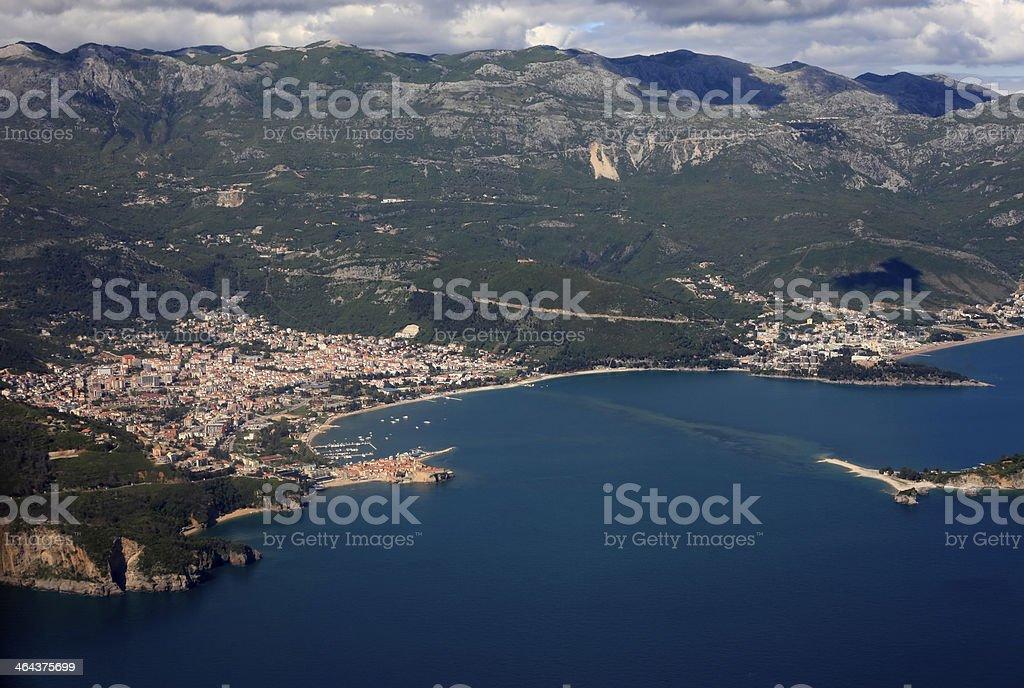 Coast of Montenegro royalty-free stock photo