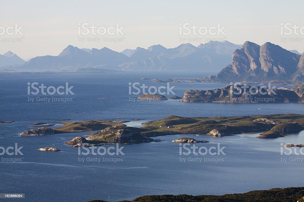 Coast of North Norway royalty-free stock photo