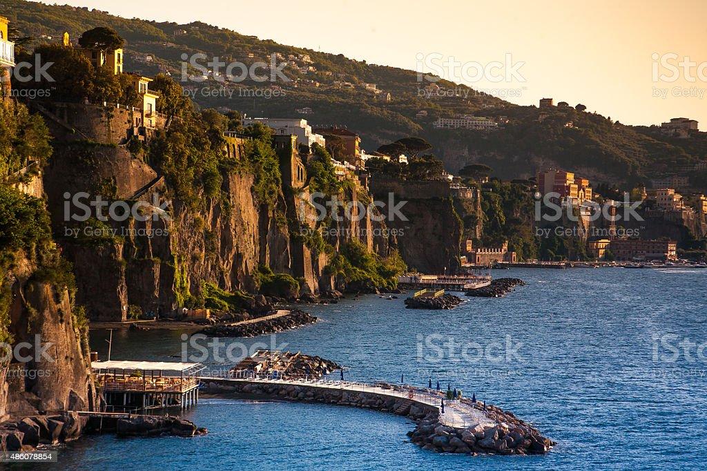 Coast of Piano di Sorrento. Campania, Italy stock photo