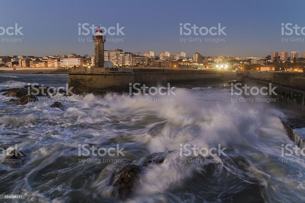Coast of Porto royalty-free stock photo