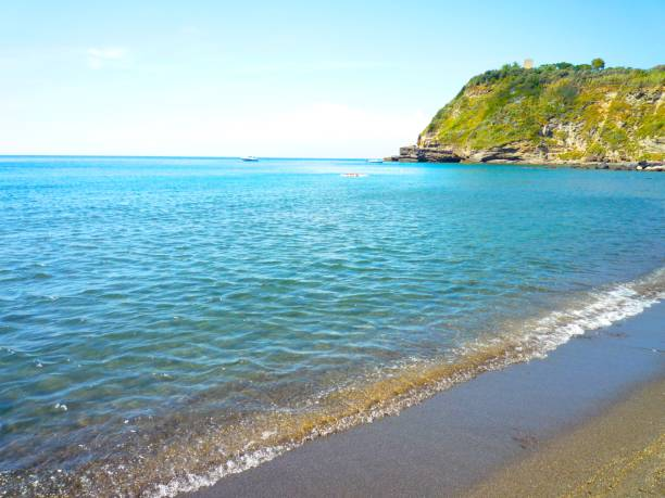 coast of procida island,italy - procida foto e immagini stock