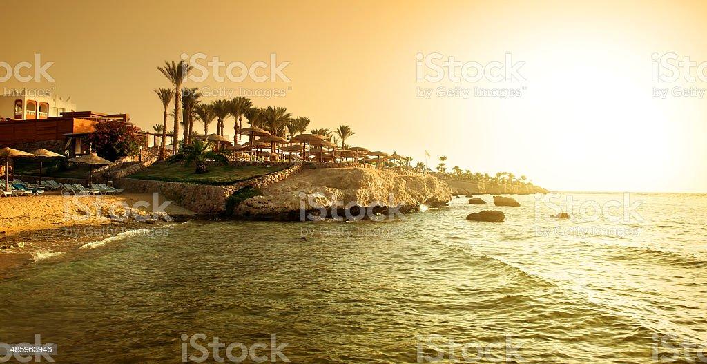 Coast of red sea stock photo