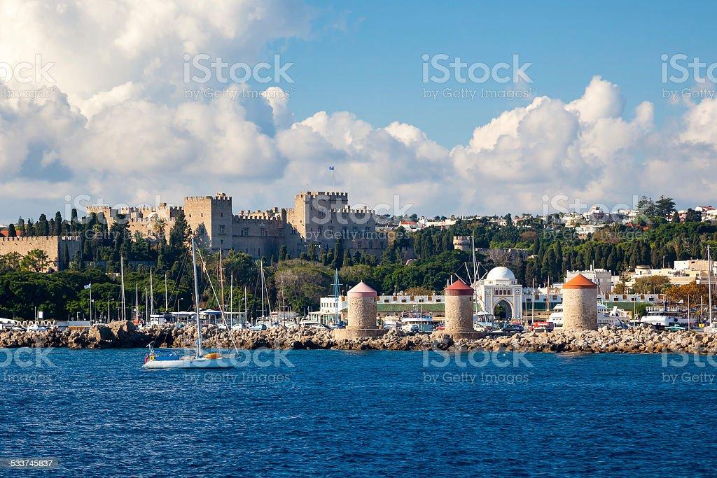 Coast of Rhodes Greece stock photo