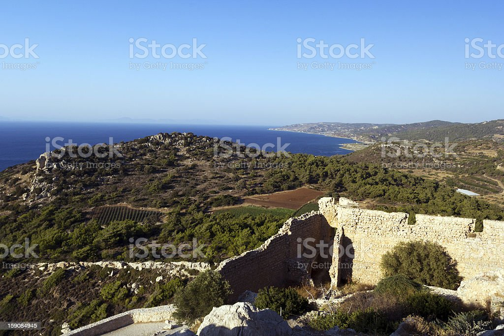 Coast of Rhodes royalty-free stock photo