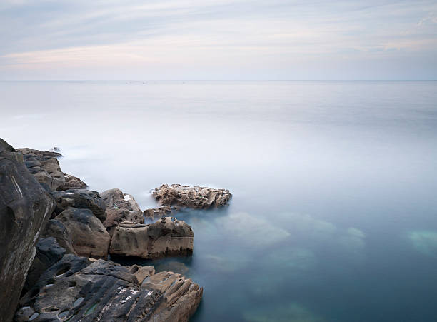 Coast of San Sebastian stock photo