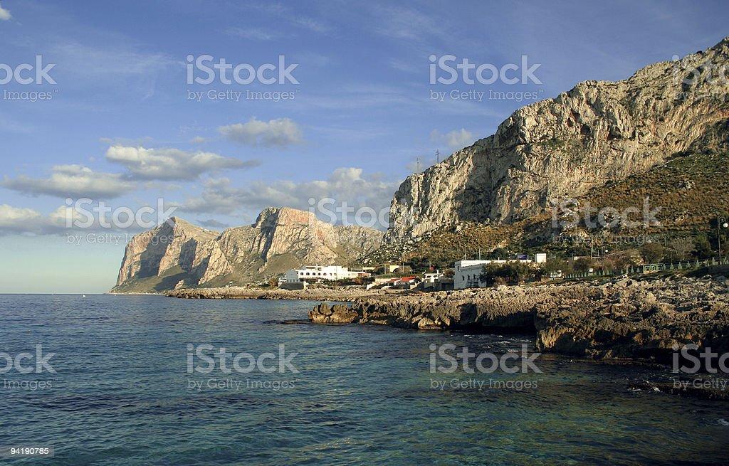 coast of sicily royalty-free stock photo