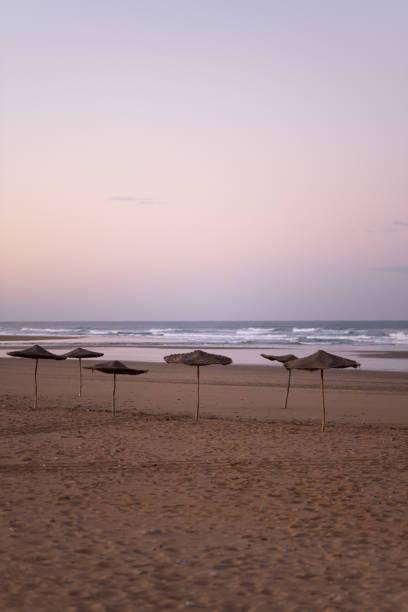 coast of sidi kaouki, morocco, africa. sunset time. morocco's wonderfully sleepy surf town - fishman imagens e fotografias de stock