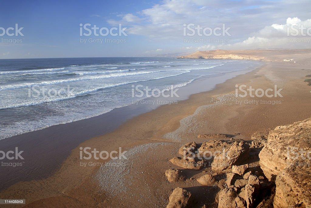 Coast of Southern Morocco stock photo