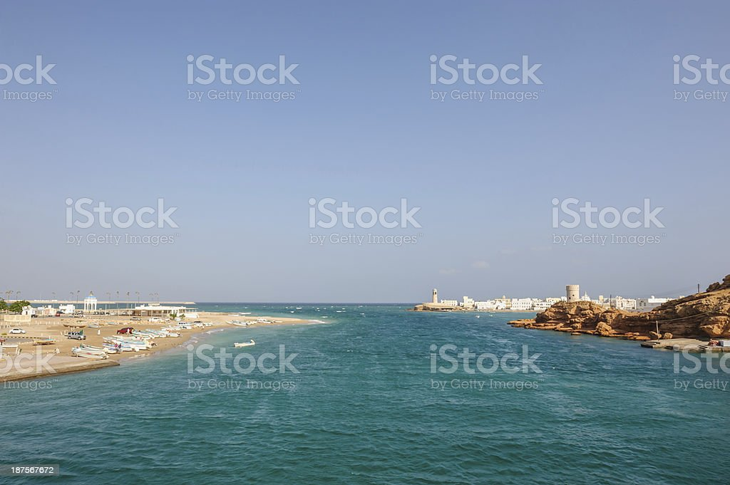 Coast of Sur Oman royalty-free stock photo