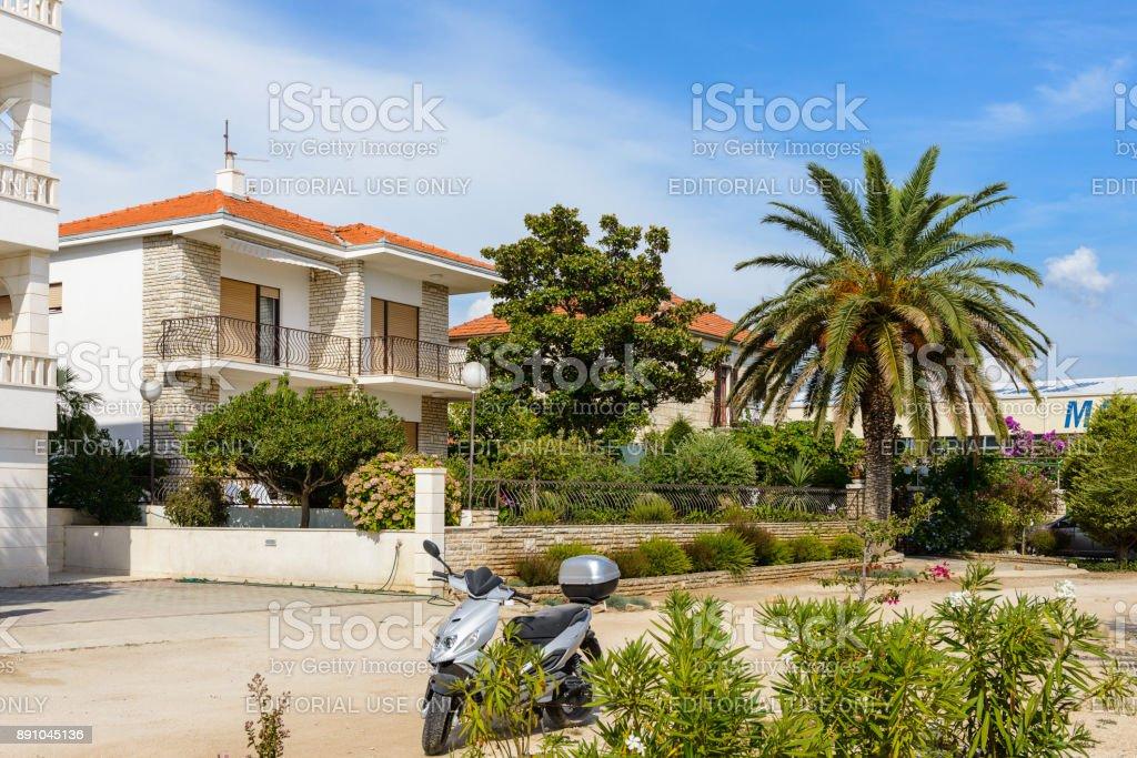 Coast of the Adriatic Sea in Dalmatia stock photo