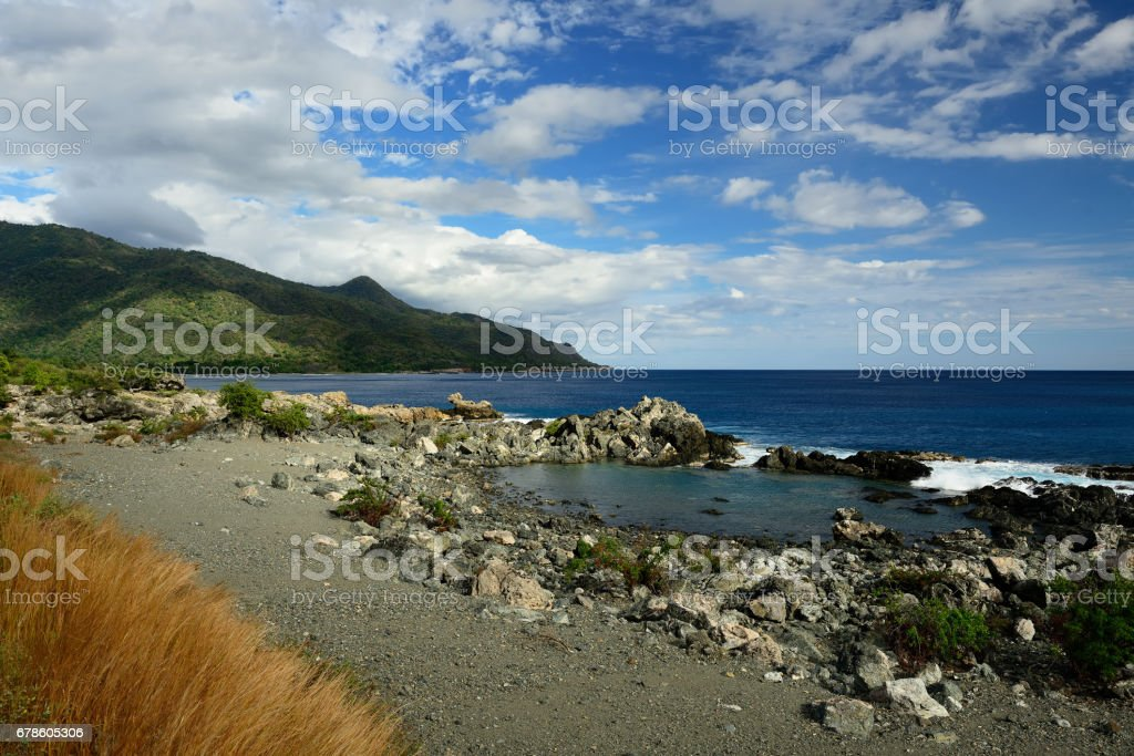 coast of the Caribbean sea, Cuba stock photo