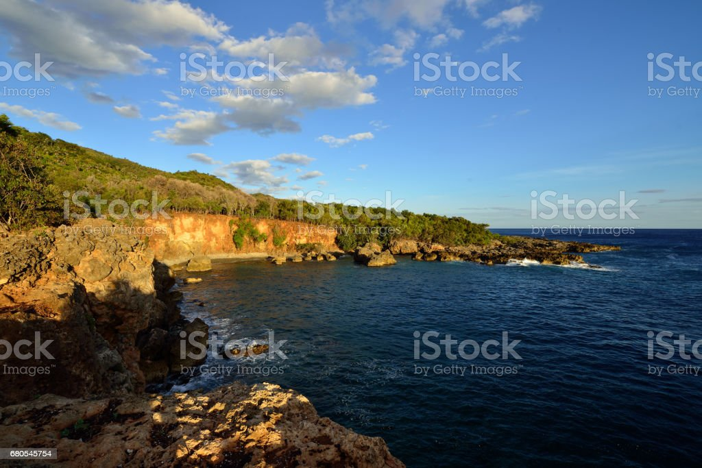 Coast of the Caribbean sea on Cuba stock photo
