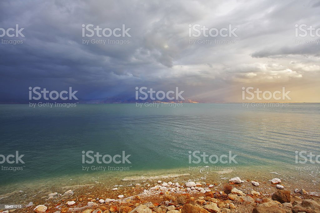 Coast of the Dead Sea in Israel royalty-free stock photo
