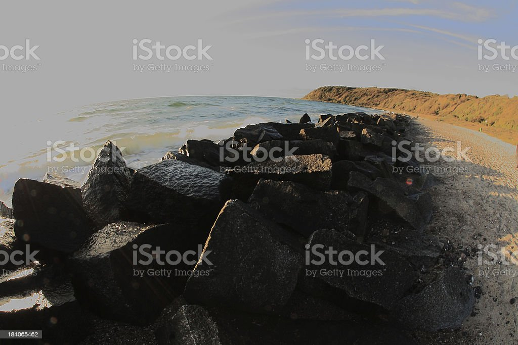 coast of the german island Hiddensee royalty-free stock photo