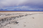 Coast of the salty lake in Atacama desert. Chile.