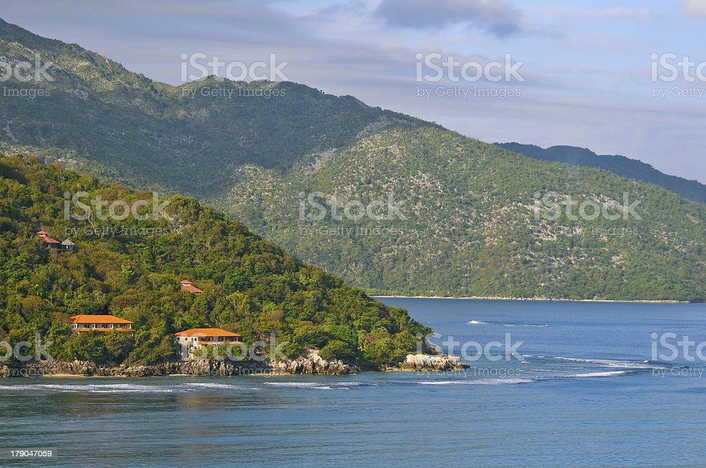 coast of tropical haiti stock photo