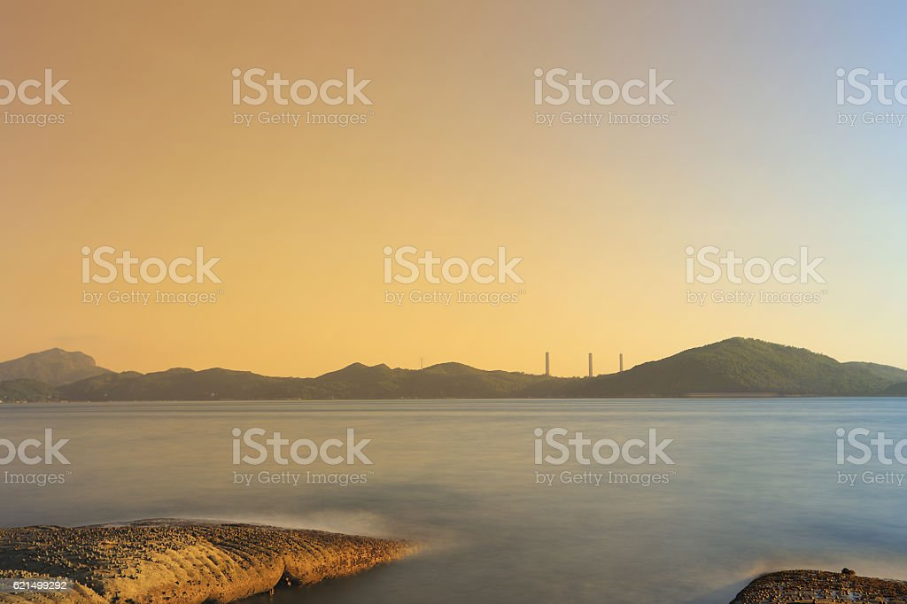 coast of Waterfall Bay Park foto stock royalty-free