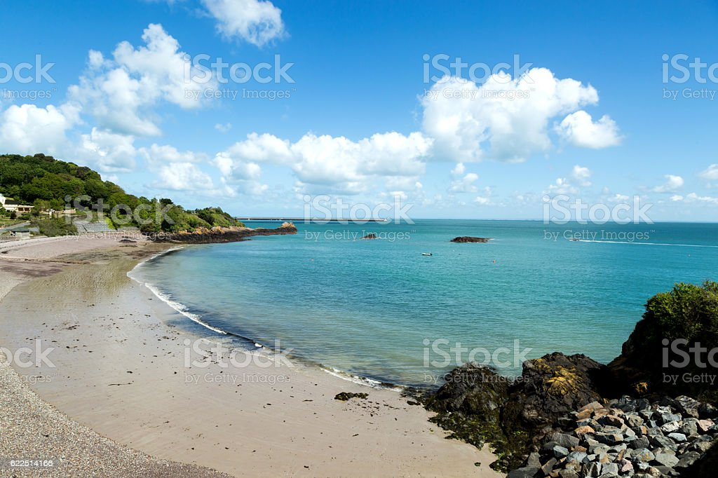 coast on the island of Jersey stock photo