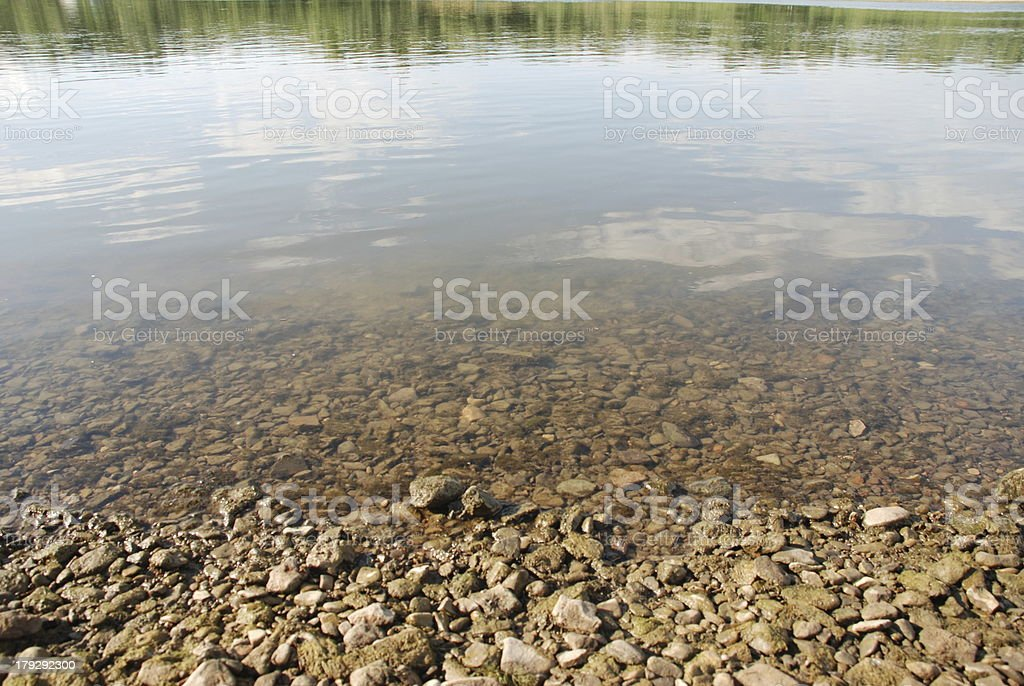 Coast on the River royalty-free stock photo