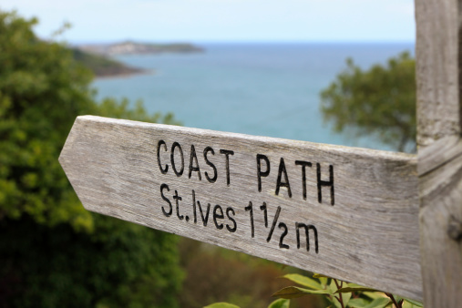 coast path sign to St. Ives