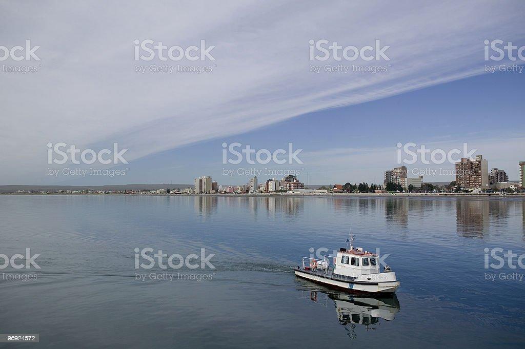 Coast patrol boat royalty-free stock photo