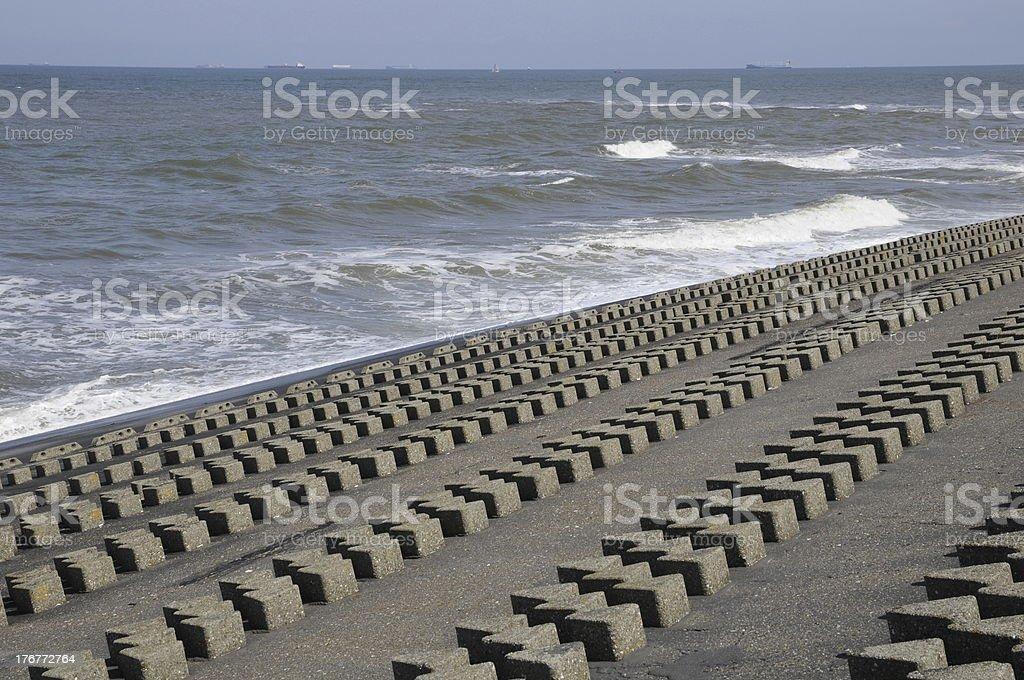 Coast protection royalty-free stock photo
