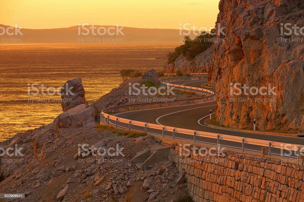 coast road croatia stock photo