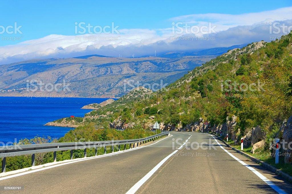 coast road croatia stock photo
