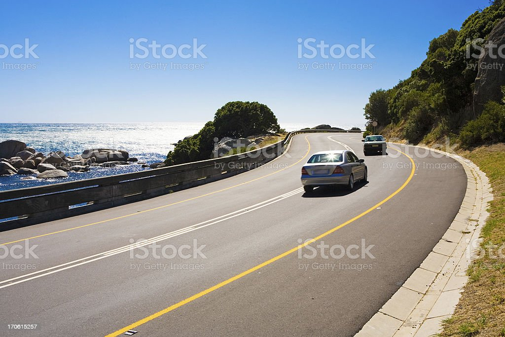 Coast road stock photo