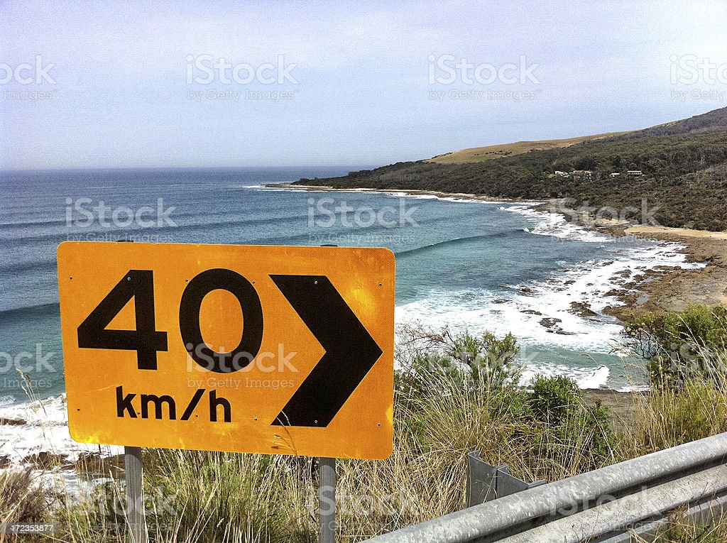 Coast road royalty-free stock photo