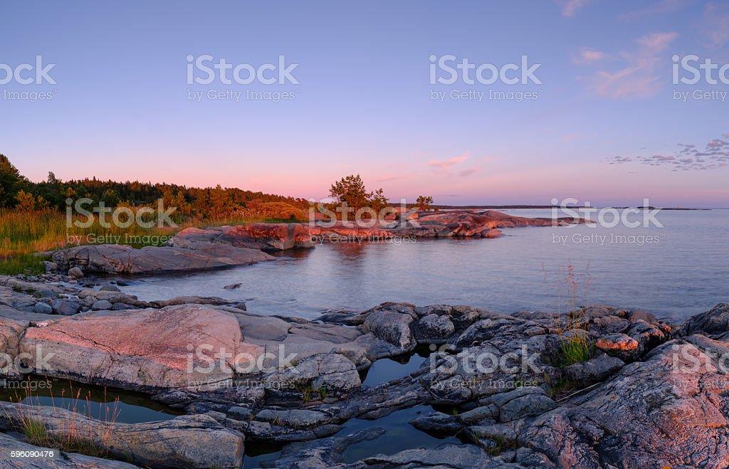 coast sunset royalty-free stock photo