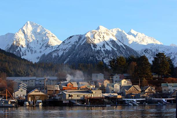 Coastal Alaska stock photo