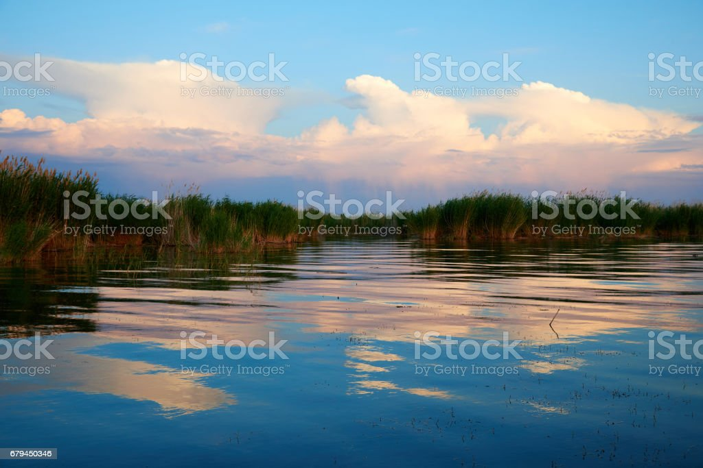 Coastal area Lake Balkhash royalty-free stock photo