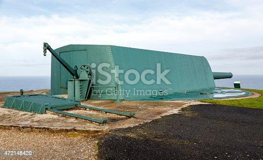 istock Coastal battery cannon in Monte de San Pedro, La Coruna 472148420