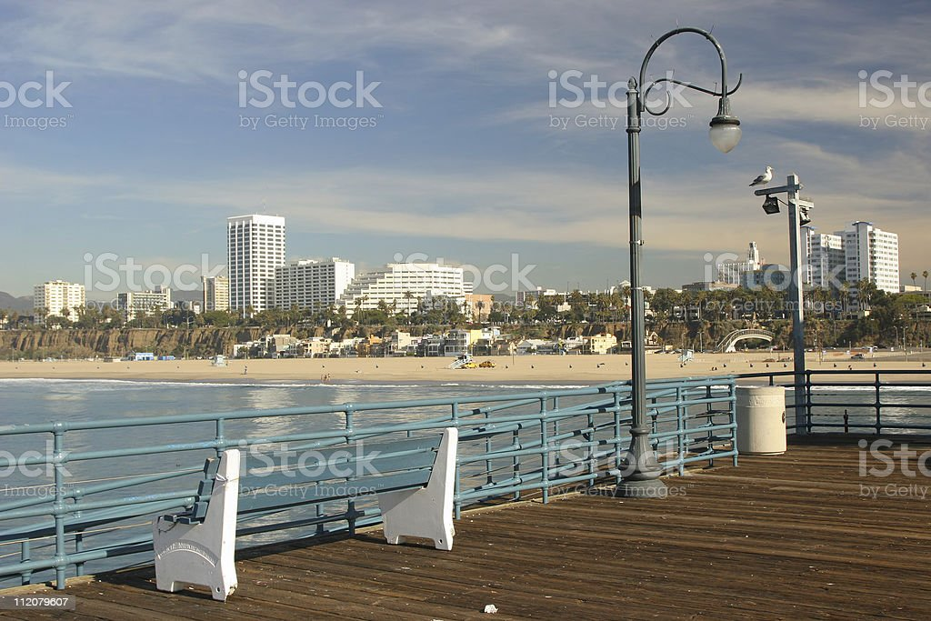 Coastal Beach Town royalty-free stock photo