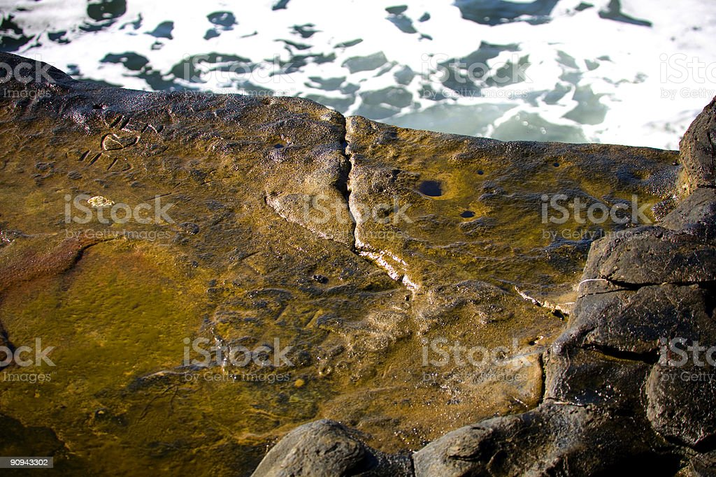 coastal california scene - carved rock royalty-free stock photo
