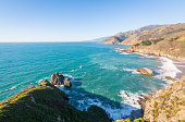 A view of the Pacific Ocean from the Pacific Coast Highway in California