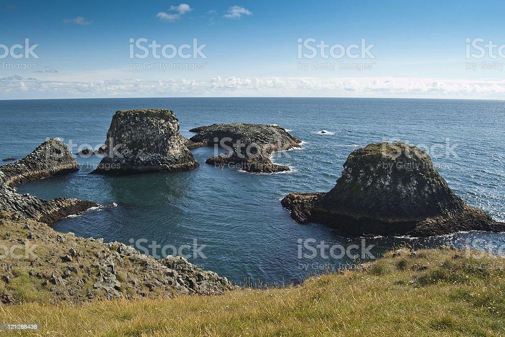 Coastal cliffs royalty-free stock photo