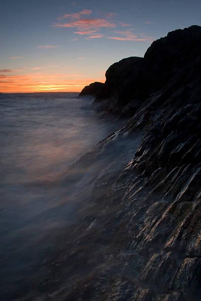Coastal cliffs. stock photo