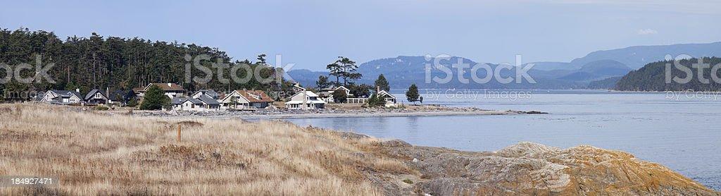 Coastal community stock photo
