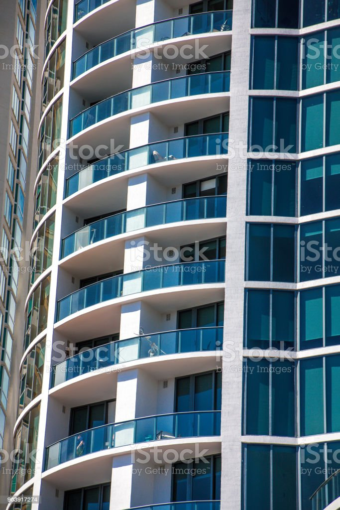 A Coastal Condo Building - Royalty-free Apartment Stock Photo