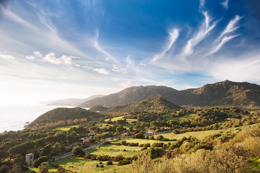 Coastal countryside view